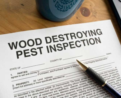 Wood Destroying Pest Inspection Paperwork
