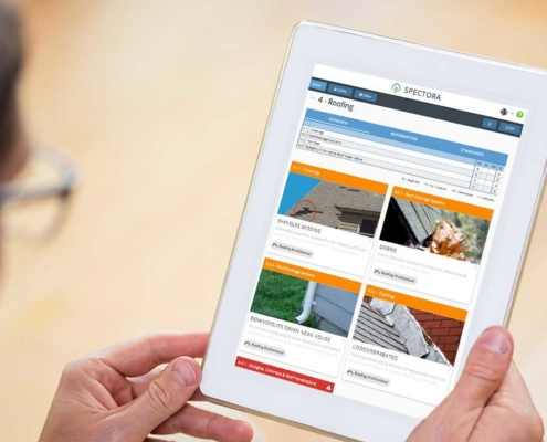 responsive home inspection report on tablet